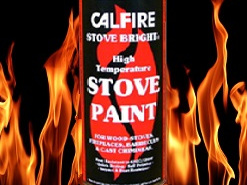 Showing a Stove Bright high temperature aerosol paint can